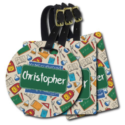Math Lesson Plastic Luggage Tags (Personalized)
