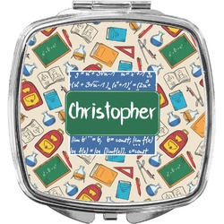 Math Lesson Compact Makeup Mirror (Personalized)