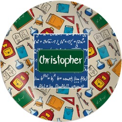 Math Lesson Melamine Plate (Personalized)