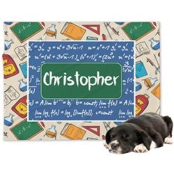 Math Lesson Minky Dog Blanket - Large  (Personalized)