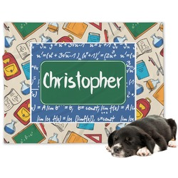 Math Lesson Minky Dog Blanket (Personalized)