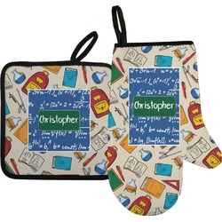 Math Lesson Oven Mitt & Pot Holder (Personalized)