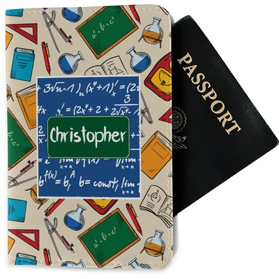 Math Lesson Passport Holder - Fabric (Personalized)