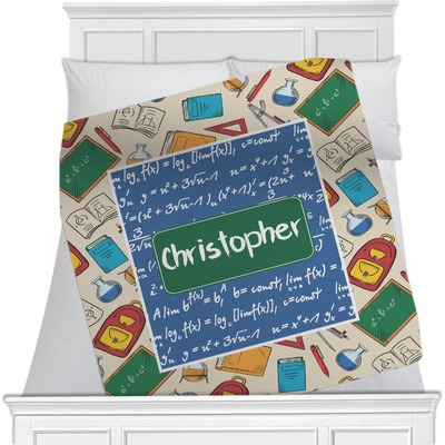 Math Lesson Minky Blanket (Personalized)