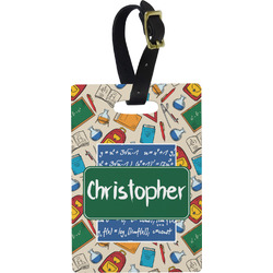Math Lesson Rectangular Luggage Tag (Personalized)