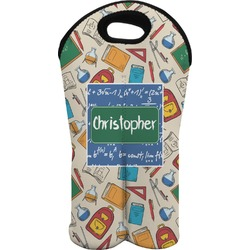 Math Lesson Wine Tote Bag (2 Bottles) (Personalized)