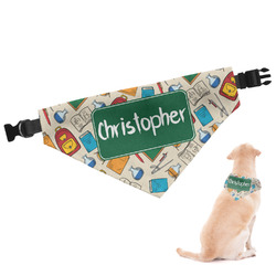 Math Lesson Dog Bandana - Small (Personalized)