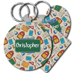 Math Lesson Plastic Keychains (Personalized)