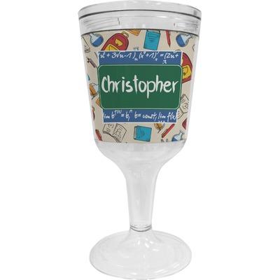 Math Lesson Wine Tumbler - 11 oz Plastic (Personalized)