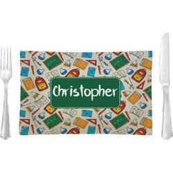 Math Lesson Rectangular Glass Lunch / Dinner Plate - Single or Set (Personalized)