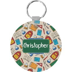Math Lesson Round Keychain (Personalized)
