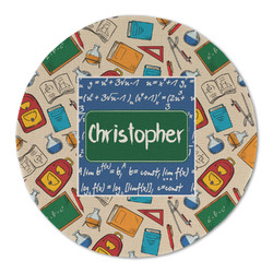 Math Lesson Round Linen Placemat (Personalized)