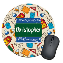 Math Lesson Round Mouse Pad (Personalized)