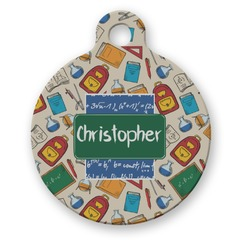 Math Lesson Round Pet ID Tag (Personalized)