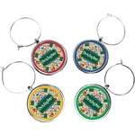 Math Lesson Wine Charms (Set of 4) (Personalized)