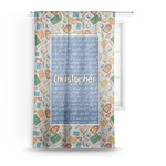 Math Lesson Sheer Curtains (Personalized)