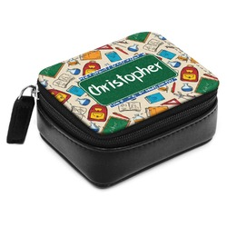 Math Lesson Small Leatherette Travel Pill Case (Personalized)