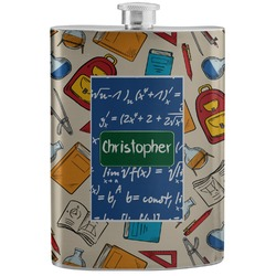 Math Lesson Stainless Steel Flask (Personalized)