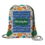 Math Lesson Drawstring Backpack (Personalized)