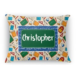 Math Lesson Rectangular Throw Pillow Case (Personalized)