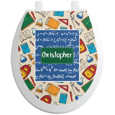 Math Lesson Toilet Seat Decal (Personalized)
