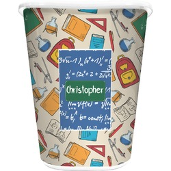 Math Lesson Waste Basket - Double Sided (White) (Personalized)