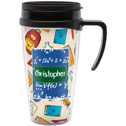 Math Lesson Travel Mug with Handle (Personalized)