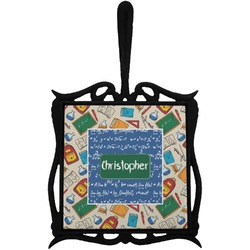 Math Lesson Trivet with Handle (Personalized)