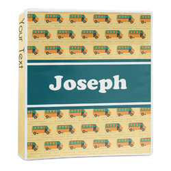 School Bus 3-Ring Binder - 1 inch (Personalized)