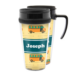 School Bus Acrylic Travel Mugs (Personalized)
