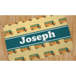 School Bus Area Rug (Personalized)