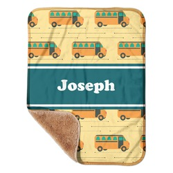"School Bus Sherpa Baby Blanket 30"" x 40"" (Personalized)"
