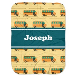 School Bus Baby Swaddling Blanket (Personalized)