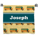 School Bus Bath Towel (Personalized)