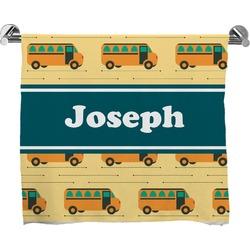 School Bus Full Print Bath Towel (Personalized)