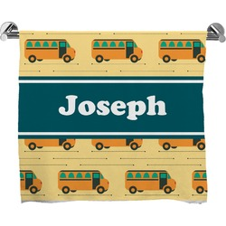 School Bus Full Print Bath Towel (Personalized)