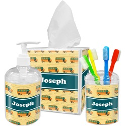 School Bus Bathroom Accessories Set (Personalized)