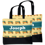 School Bus Beach Tote Bag (Personalized)