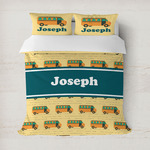 School Bus Duvet Cover (Personalized)