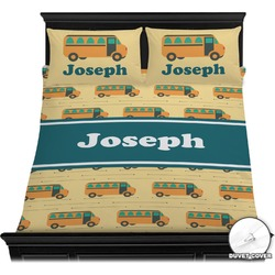 School Bus Duvet Cover Set (Personalized)