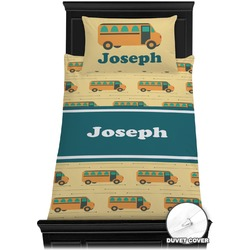 School Bus Duvet Cover Set - Toddler (Personalized)