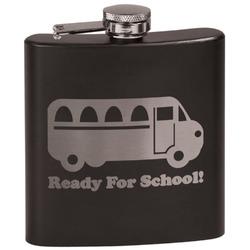 School Bus Black Flask Set (Personalized)