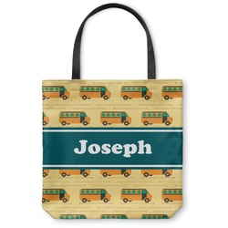"""School Bus Canvas Tote Bag - Large - 18""""x18"""" (Personalized)"""