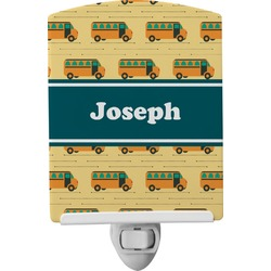 School Bus Ceramic Night Light (Personalized)