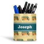 School Bus Ceramic Pen Holder