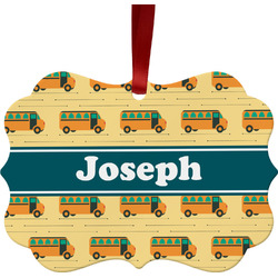 School Bus Ornament (Personalized)