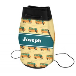 School Bus Neoprene Drawstring Backpack (Personalized)