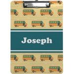 School Bus Clipboard (Personalized)