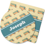 School Bus Rubber Backed Coaster (Personalized)