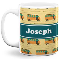 School Bus 11 Oz Coffee Mug - White (Personalized)